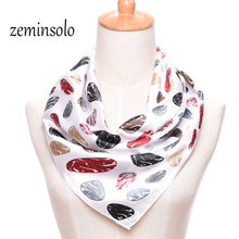60*60cm Square Scarf For Women Wrap Imitated Silk Scarf Chiffon Silk Scarves Wraps Soft Scarf Women Shawl Hijab Plaid Stoles(China)