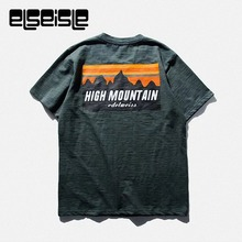 High mountain men's Casual Bamboo cotton hemp t shirt elseisle Brand clothing Colorful  Fitness for youth original t shirts