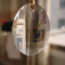 40pcs/Lot 76mm Large Europe Style Big Egg Crystal Chandelier Drop Machine Cut Stone Lamp Pendants For Sales(China)
