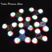 Buy LED Light Fidget Spinner Finger Plastic EDC Hand Spinner Autism ADHD Relief Focus Anxiety Stress Wheel Toys Gift for $1.47 in AliExpress store