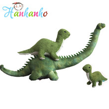 Giant Simulation Green Long Neck Dinosaur Plush Toy Big Stuffed Animal Kids Sleeping Toy Birthday Gift 80cm(China)