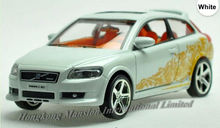 1:32 Scale Alloy Metal Diecast Car Model For Volvo C30 Toy Collection Pull Back With Sound&Light - White / Orange / Red / Black