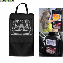 1Pcs Baby Kids Car Seat Hanging Bag For iPad Tablet Car Headrest Holder Wallet Case Auto Back Seat Multi-Pockets Storage Bag(China)