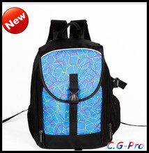 fashion cg travel backpacks, camera bag with different color lots size.