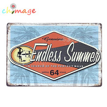 GUNIINE ENDLESS SUMMER Vintage Tin Sign Bar pub home Wall Decor Retro Metal Art Poster