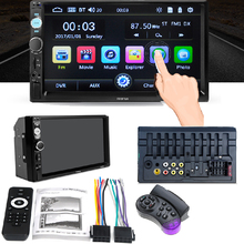 Autoradio Cassette Recorder Car MP5 Multimidia Player Automagnitola 2 Din 7in Touch Screen 7018 PLUS With 8 Light Camera(China)