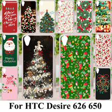 AKABEILA Christmas Tree Phone Case For HTC Desire 626 650 D650 628 A32 626w 626D 626G 626S Cover Soft Silicone Back Bag Housing(China)