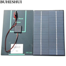 BUHESHUI 4.2W 18V Solar Cell Polycrystalline Solar Panel+Crocodile Clip For Charging 12V Battery 200*130*3MM NEW Free Shipping(China)