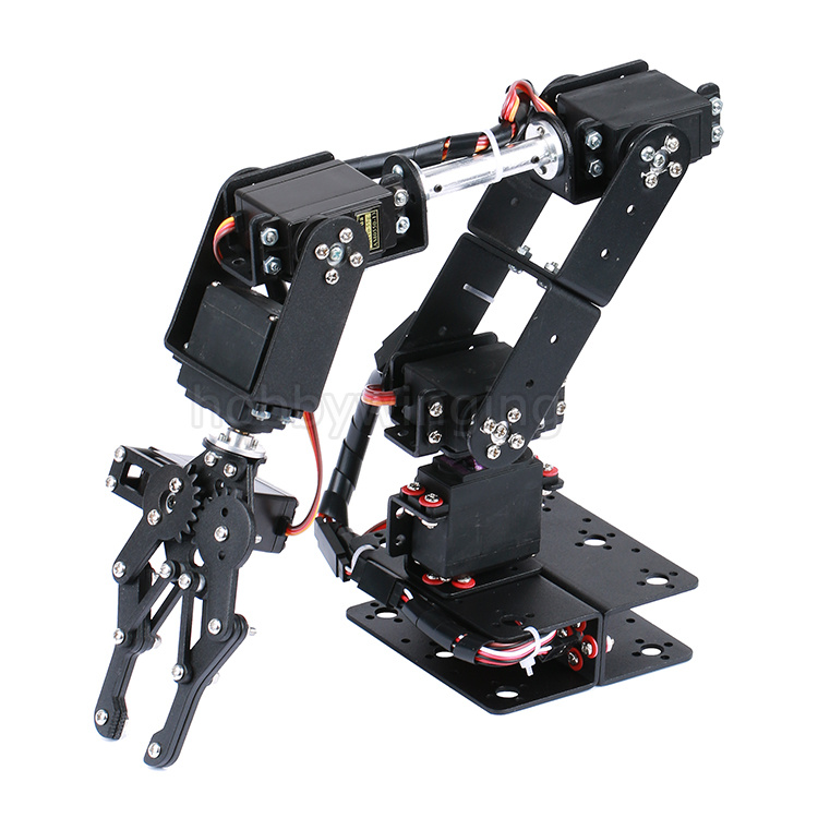 6 DOF Robot Manipulator Metal Alloy Mechanical Arm Clamp Claw Kit MG996R DS3115 for Arduino Robotic Education<br>