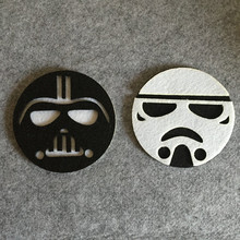 1 Piece Cartoon Kawaii Fashion Star Wars Darth Vader White Storm Trooper Place Pads Cushion Cup Holder Home Table Decorate BD17