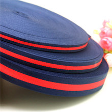 DUWES high density double face plain red navy blue color 3 sizes knitting ribbon hairbow headwear garment accessories D587(China)