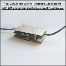 high quality Little  size 13S 48V lithium ion Battery BMS  54.6V PCB with 20A current  for li-ion rechargeable bike battery