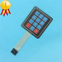 4x3 Membrane Switch Keypad Keyboard 3*4 Control Panel Microprocessor Keyboard for Arduino AVR 12 Keys