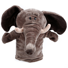 MYMF Cute Plush Velour Animals Hand Puppets Chic Designs Kid Child Learning Aid Toy (Elephant)(China)