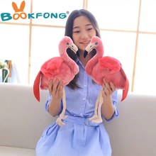BOOKFONG 1PC 30CM Simulation Flamingo Plush Doll Cute Wildlife Bird Stuffed Toy Gift Toy Collection Toy Home Shop Decor(China)