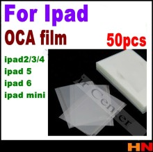 50pcs OCA Film Optical Clear Adhesive Double Side Glue Sticker 7.9 inch for iPad 2 mini LCD Touch Screen Repair with easy stear(China)