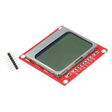 5PCS LCD Module Display Monitor White Backlight Adapter PCB 84*48 84x84 for Nokia 5110 Screen for arduino DIY KIT