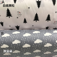 160CMx50CM snowman pine cotton fabric infant baby bedding linens cotton patchwork fabric tecidos quilting cloth sewing tissue