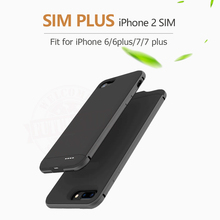 New Bluetooth Dual SIM Dual Standby Adaper Ultrathin Long Standby 7days for iPhone 6(s)/6(s) plus with 1500/2300 mAh Power Bank