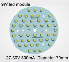 Wholesale 9W Led Module 27-30V 800Lm 300Ma Aluminum PCB free shipping 3 years warranty