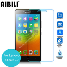 AIBILI For Lenovo K3 Note Tempered glass Screen Protector 9H 2.5 Safety Protective film on K3note Music K50-T5 K 3 2.5 D 9H(China)