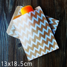 Kraft Paper Bags, Favour bags, treat bags, giftwrapping, baked goods bag 13x18.5cm 100pcs/lot