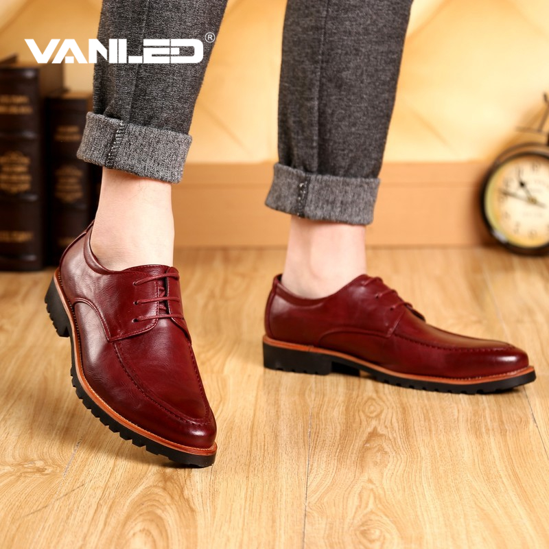 Top quality oxford men genuine cow leather dress shoes pointed toe italian casual flats shoes superstar business wedding formal<br>