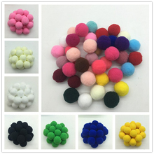 40Pcs 30mm,mix Color Pompom Fluffy Plush Cloth Craft DIY Soft Pon Pom Pon Poms Ball Furball Home Decor Sewing Supplies Craf(China)