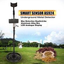 SMART SENSOR AS924 Professional Underground Metal Detector Adjustable Gold Silver Finder Treasure Hunter Seeker 2.5m Depth