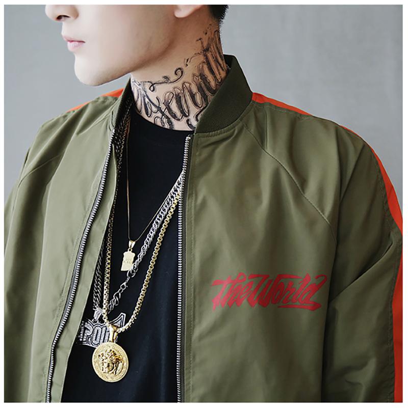 Bomber Jacket Men Pilot Printed Streetwear  (16)