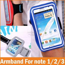 Note 1 2 3 Running SPORT GYM Armband Case for Samsung Galaxy note 3 2 1 Waterproof Jogging Arm Band Mobile Phone Bag accessories