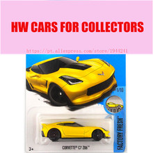 New Arrivals 2017 Hot Wheels 1:64 Yellow Corvett C7 Z06 Metal Diecast Cars Collection Toy Vehicle For Children Model(China)