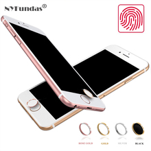 NYFundas 10pcs for Aluminum Touch ID iPhone Home Button Sticker for iPhone 5 5S 5C 6 6S 7 iPad Pro Fingerprint Phone Stickers(China)