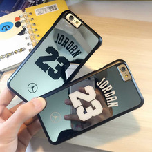 coque for iPhone 6 6 plus 5s 5 case bulk back cover brand Michael Jordan 23 fundas carcasa capa coque PC hard mirror chrome case