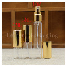 Wholesale Clear Essential oils Spray Bottle With The Golden Lid,Beauty &Skin Care Cosmetics Packaging Container,Cosmetic Gadgets