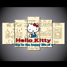 HD Printed hello kitty cartoon Painting Canvas Print room decor print poster picture canvas Free shipping/NY-5841