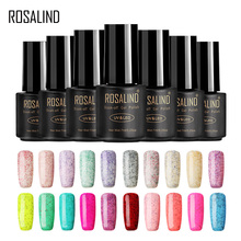Buy ROSALIND Gel 1S Black Bottle 7ML Candy Bling D01-24 Gel Nail Polish Semi Permanent Nail Art UV LED Soak-Off Gel Varnish Manicure for $1.33 in AliExpress store