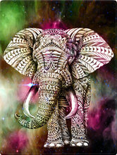 ZOOYA DIY 3D diamond painting Cross stitch elephant round drill full rhinestone picture diamond embroidery animals home decor(China)