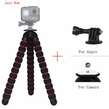 Just Now Large Flexible Tripod Gorillapod Type Monopod+Adapter+Screw for Digital Camera/for Gopro Hero Camera/for Xiao yi Camera