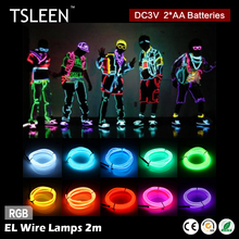 +On Sale Cheap+ multifunction 2m 3v controller flexible el wire neon led light party decor