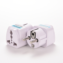 1PC White Travel Converter Plug Universal EU UK US GER AU CHN Plug Adapter European Germany Australia China Power Plug Socket