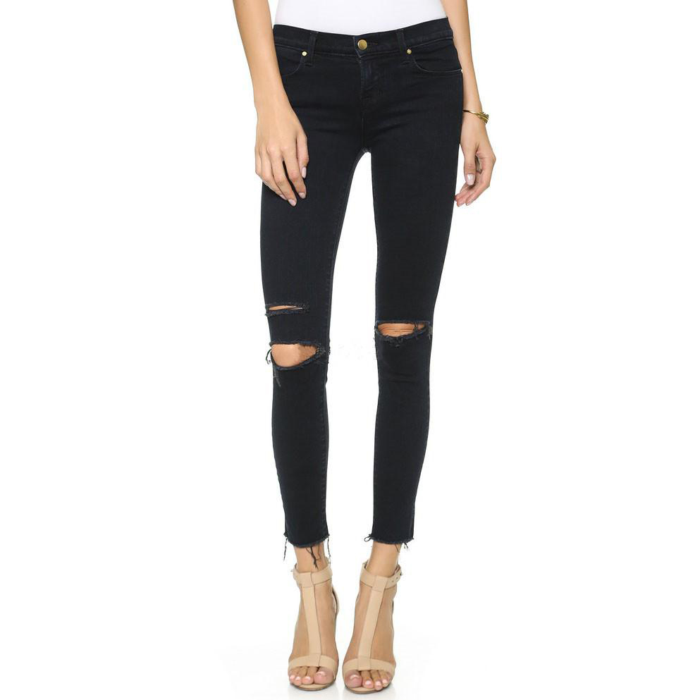 Autumn Winter Elastic High Waist Jeans Woman American Apparel Denim Black Skinny Jeans For Women Push Up Pencil Pants With HolesОдежда и ак�е��уары<br><br><br>Aliexpress