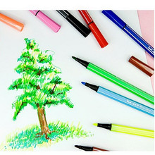 36 Colored Washable Art Marker Touch Pen Watercolor Brush Pen Manga Painting for School Supplies Material Escolar Free Shipping(China)