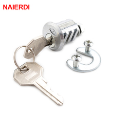NAIERDI 103 Ribs Cam Lock Door Cabinet Special Mailbox Cupboard Home Locker 20mm Length Furniture Hardware With Iron Keys(China)