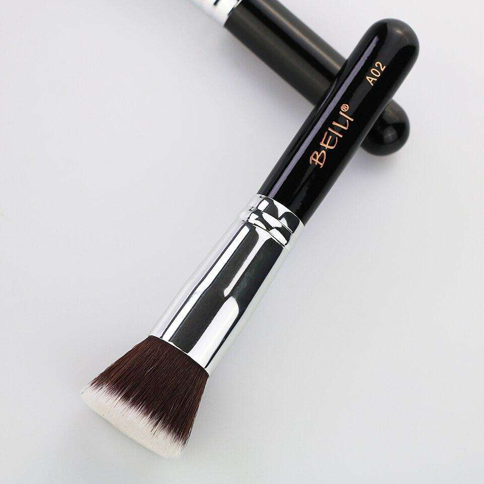 BEILI 1Pc Kabuki Soft Dense Grey Synthetic Hair Powder Foundation Blusher Contour Makeup Brushes 10