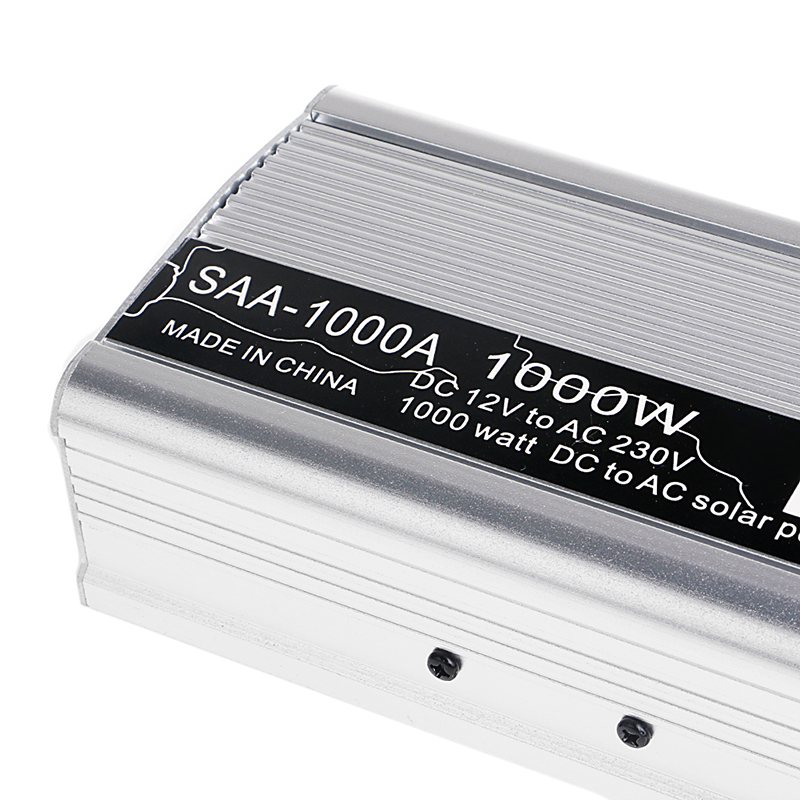 1000W/1500W DC12V to AC 230V Solar Continuous Inverter Converter USB Output Stable <br>