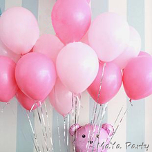 20pc/lot Pearl balloons 10 Inch Thick 2.2g Birthday Ballons Wedding Ballons Decorations Light/Dark Pink Party Wholesale