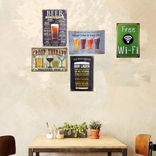 Shabby chic Metal Tin signs Car License Plates Beer Wine Restaurant Bar Pub With Striking Craft Wall Painting(China)