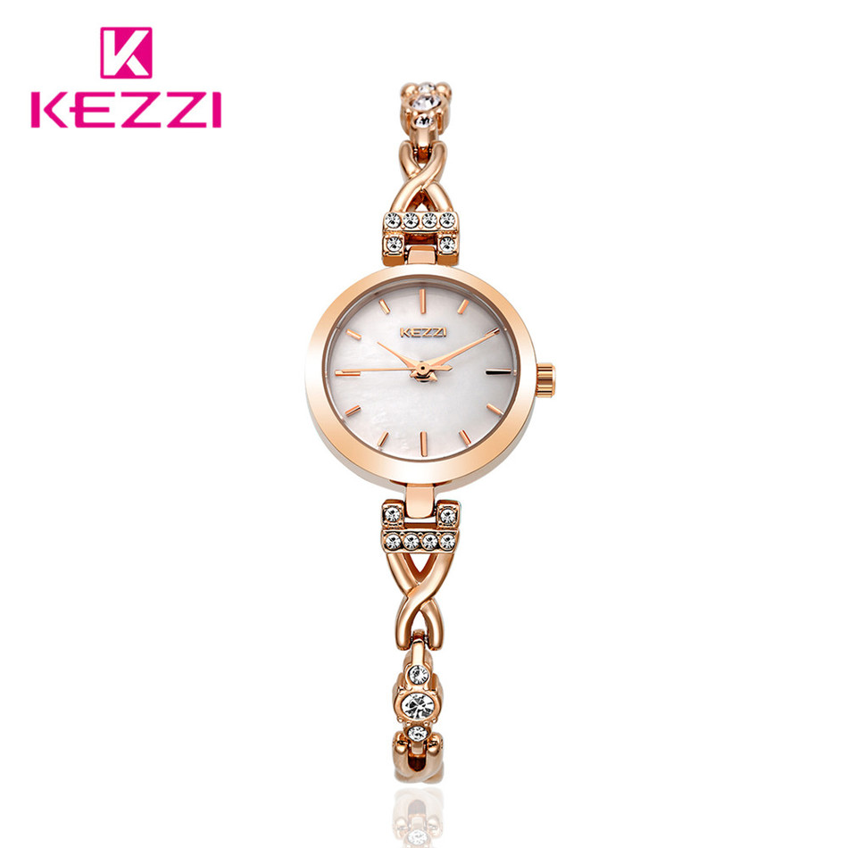 KEZZI Band 30M Waterpoof Luxury Diamond Stainless Steel Women Watch Delicate Quartz Rhinestone Shell Case Student Lady Watches<br><br>Aliexpress