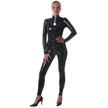 Buy Sexy Unisex Black Latex Catsuit Rubber Bodysuits Front Crotch Zip High Quality Latex Rubber Zentai